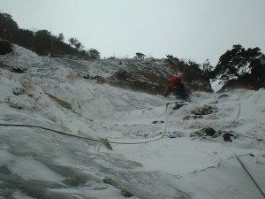唐沢岳幕岩大凹角ルート 2003年12月29日~2004年1月2日