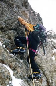 横岳西壁 中山尾根 2002年12月7日