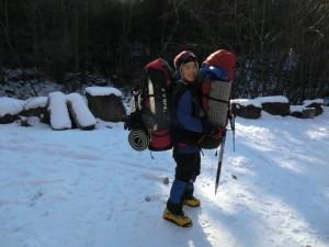 八ヶ岳 赤岳、南沢大滝 2011年12月29-31日