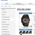 CASIO ProTrek のモデル