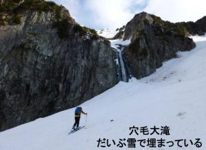 笠が岳穴毛谷 山スキー 2013/5/3-5